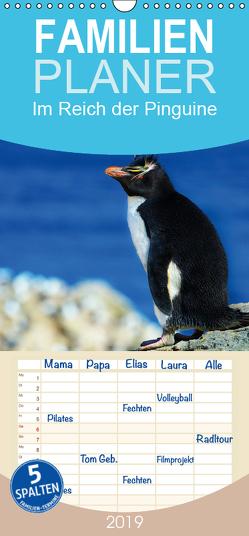 Im Reich der Pinguine – Familienplaner hoch (Wandkalender 2019 , 21 cm x 45 cm, hoch) von Pfaff,  Hans-Gerhard