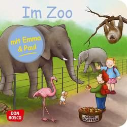 Im Zoo mit Emma und Paul. Mini-Bilderbuch. von Bohnstedt,  Antje, Lehner,  Monika