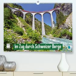 Im Zug durch Schweizer Berge (Premium, hochwertiger DIN A2 Wandkalender 2020, Kunstdruck in Hochglanz) von CALVENDO