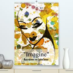 Imagine – Illustrationen von Sophia Sanner (Premium, hochwertiger DIN A2 Wandkalender 2020, Kunstdruck in Hochglanz) von Sanner,  Sophia