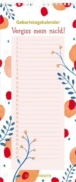 Immerwährender Geburtstagskalender – Vergiss mein nicht! (Punkte u. Muster) von Hatkemper,  Susanna
