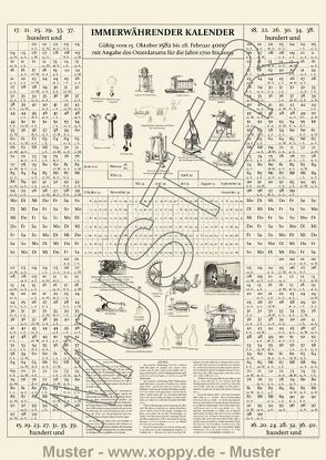 Immerwährender tausendjähriger Kalender von Jochimsen,  Günther, Neu,  E