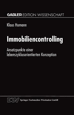 Immobiliencontrolling von Homann,  Klaus