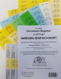 DürckheimRegister® IMMOBILIENFACHWIRT Griffregister (2019/2020) von Dürckheim,  Constantin
