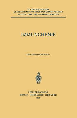 Immunchemie von TerHaak,  L., Westphal,  Otto