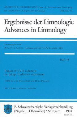Impact of UV-B radiation on pelagic freshwater ecosystems von Williamson,  Craig E, Zagarese,  Horatio E