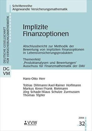 Implizite Finanzoptionen von Herr,  Hans-Otto