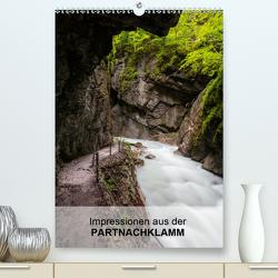 Impressionen aus der Partnachklamm (Premium, hochwertiger DIN A2 Wandkalender 2021, Kunstdruck in Hochglanz) von Mueller,  Andreas