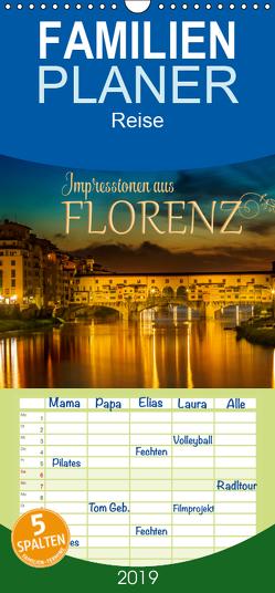 Impressionen aus FLORENZ – Familienplaner hoch (Wandkalender 2019 , 21 cm x 45 cm, hoch) von Viola,  Melanie
