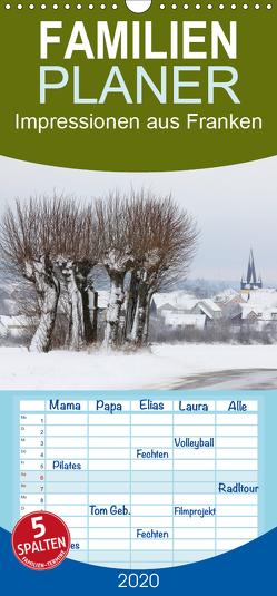 Impressionen aus Franken – Familienplaner hoch (Wandkalender 2020 , 21 cm x 45 cm, hoch) von Doerk,  Wiltrud