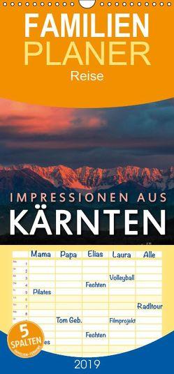 Impressionen aus Kärnten – Familienplaner hoch (Wandkalender 2019 , 21 cm x 45 cm, hoch) von Dr. Günter Zöhrer,  ©