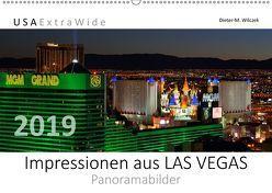 Impressionen aus LAS VEGAS Panoramabilder (Wandkalender 2019 DIN A2 quer) von Wilczek,  Dieter-M.