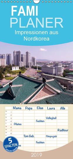 Impressionen aus Nordkorea – Familienplaner hoch (Wandkalender 2019 , 21 cm x 45 cm, hoch) von Geschke,  Sabine