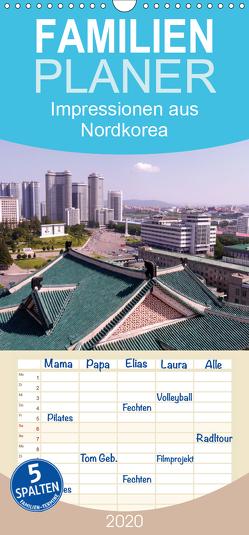 Impressionen aus Nordkorea – Familienplaner hoch (Wandkalender 2020 , 21 cm x 45 cm, hoch) von Geschke,  Sabine