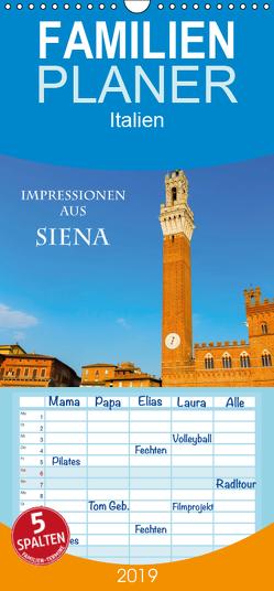 Impressionen aus Siena – Familienplaner hoch (Wandkalender 2019 , 21 cm x 45 cm, hoch) von Müller,  Christian