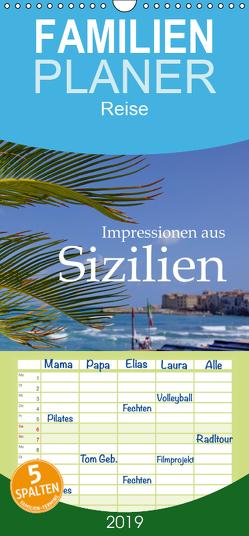 Impressionen aus Sizilien – Familienplaner hoch (Wandkalender 2019 , 21 cm x 45 cm, hoch) von M.Polok