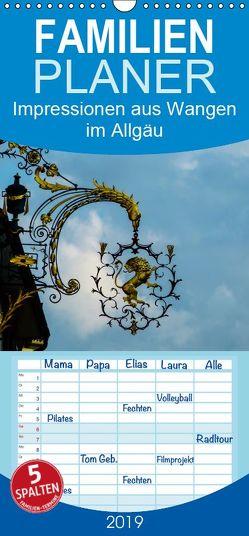 Impressionen aus Wangen im Allgäu – Familienplaner hoch (Wandkalender 2019 , 21 cm x 45 cm, hoch) von Hampe,  Gabi