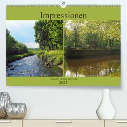 Impressionen – Gütersloh entlang der Dalke (Premium, hochwertiger DIN A2 Wandkalender 2021, Kunstdruck in Hochglanz) von Gube,  Beate