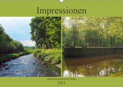 Impressionen – Gütersloh entlang der Dalke (Wandkalender 2021 DIN A2 quer) von Gube,  Beate