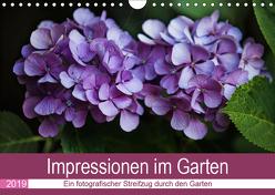 Impressionen im Garten (Wandkalender 2019 DIN A4 quer) von Verena Scholze,  Fotodesign