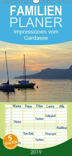 Impressionen vom Gardasee – Familienplaner hoch (Wandkalender 2019 , 21 cm x 45 cm, hoch) von GUGIGEI