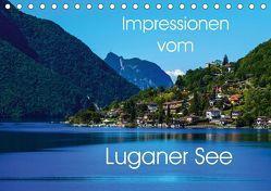 Impressionen vom Luganer See (Tischkalender 2018 DIN A5 quer) von Hampe,  Gabi