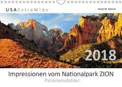 Impressionen vom Nationalpark ZION Panoramabilder (Wandkalender 2018 DIN A4 quer) von Wilczek,  Dieter-M.