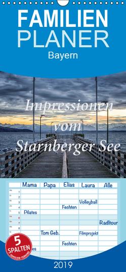 Impressionen vom Starnberger See – Familienplaner hoch (Wandkalender 2019 , 21 cm x 45 cm, hoch) von Marufke,  Thomas