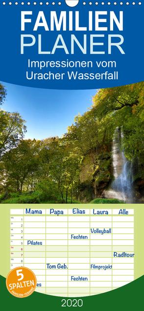 Impressionen vom Uracher Wasserfallsteig – Familienplaner hoch (Wandkalender 2020 , 21 cm x 45 cm, hoch) von Krisma