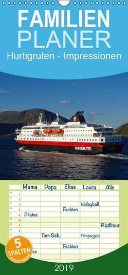 Impressionen von Norwegen entlang der Hurtigruten – Familienplaner hoch (Wandkalender 2019 , 21 cm x 45 cm, hoch) von kattobello