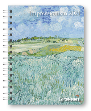 Impressionism 2021 – Diary – Buchkalender – Taschenkalender – Kunstkalender – 16,5×21,6