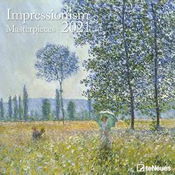 Impressionism 2021 – Wand-Kalender – Borschüren-Kalender – 30×30 – 30×60 geöffnet – Kunst-Kalender