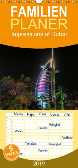 Impressions of Dubai – Familienplaner hoch (Wandkalender 2019 , 21 cm x 45 cm, hoch) von Sielaff,  Marcus