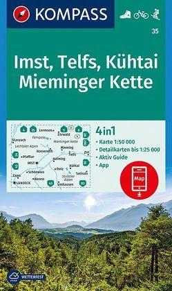 Imst, Telfs, Kühtai, Mieminger Kette von KOMPASS-Karten GmbH
