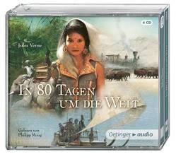 In 80 Tagen um die Welt (NA) (4 CD) von Doehlemann,  Martin, Moog,  Philipp, Pflug,  Jan-Peter, Verne,  Jules, Wagener,  Hans-Jürgen