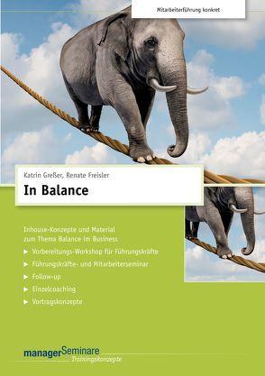 In Balance (Trainingskonzept) von Freisler,  Renate, Greßer,  Kathrin