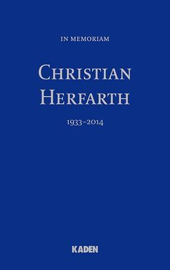 In Memoriam Christian Herfarth