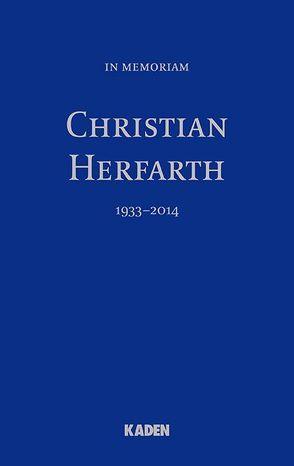 In Memoriam Christian Herfarth