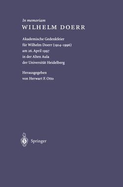 In memoriam WILHELM DOERR von Doerr,  Wilhelm, Otto,  Herwart F.