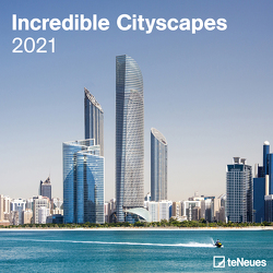 Incredible Cityscapes 2021 – Wand-Kalender – Broschüren-Kalender – 30×30 – 30×60 geöffnet – Stadt-Kalender – Skyline