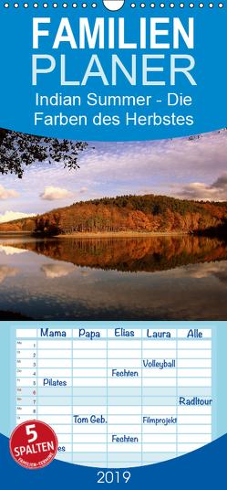 Indian Summer – Die Farben des Herbstes – Familienplaner hoch (Wandkalender 2019 , 21 cm x 45 cm, hoch) von Klatt,  Arno