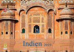 Indien 2019 Tempel, Tiger und Paläste (Tischkalender 2019 DIN A5 quer) von Bergwitz,  Uwe