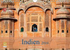 Indien 2019 Tempel, Tiger und Paläste (Wandkalender 2019 DIN A4 quer) von Bergwitz,  Uwe