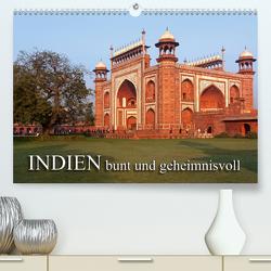 INDIEN – bunt und geheimnisvollCH-Version (Premium, hochwertiger DIN A2 Wandkalender 2021, Kunstdruck in Hochglanz) von Seifert,  Birgit
