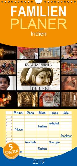 Indien – Familienplaner hoch (Wandkalender 2019 , 21 cm x 45 cm, hoch) von Tappeiner,  Kurt