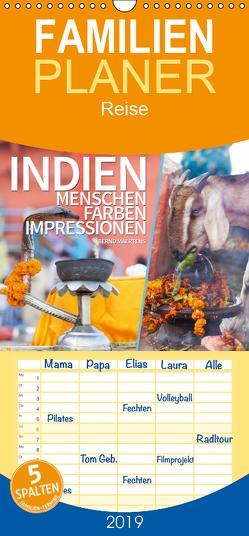 INDIEN Menschen Farben Impressionen – Familienplaner hoch (Wandkalender 2019 , 21 cm x 45 cm, hoch) von Maertens,  Bernd