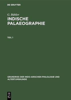 Indische Palaeographie von Bühler,  G
