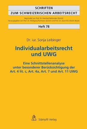 Individualarbeitsrecht und UWG von Leibinger,  Sonja
