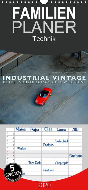INDUSTRIAL VINTAGE – Graue Industriegeschichte wird bunt – Familienplaner hoch (Wandkalender 2020 , 21 cm x 45 cm, hoch) von Oelschläger,  Wilfried