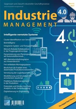 Industrie 4.0 Management 1/2019 von Scholz-Reiter,  Bernd